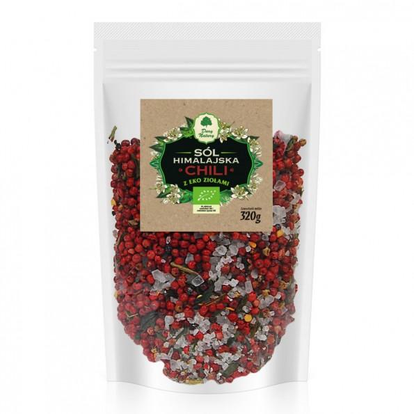 Sól himalajska z ziołami Chili - uzupełniacz EKO 320g