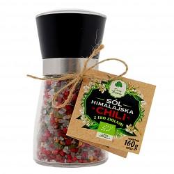 Sól himalajska z ziołami chilli - młynek EKO 160g