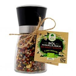 Sól himalajska z EKO ziołami do mięs i sosów - młynek 125g