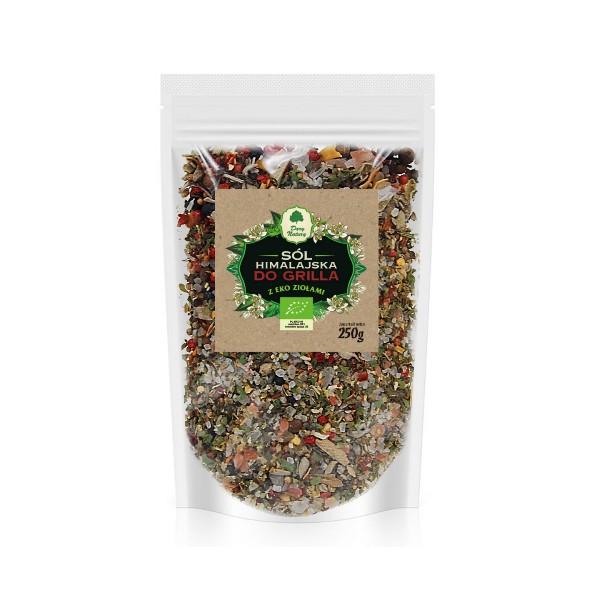 Sól himalajska z EKO ziołami do grilla - uzupełniacz 250g