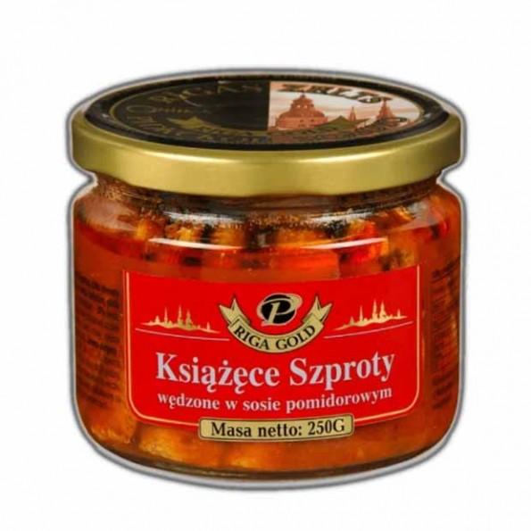 Książęcy szprot wędzony w sosie pomidorowym