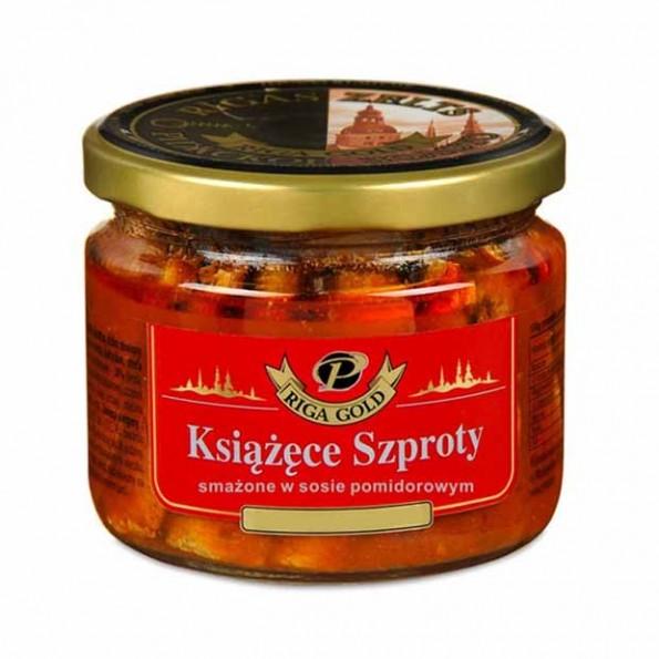 Książęcy szprot smażony w sosie pomidorowym