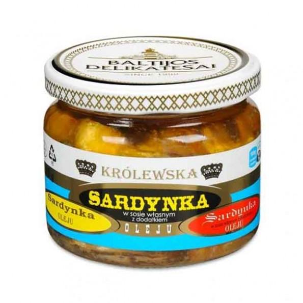 Królewska sardynka w sosie własnym z dodatkiem oleju roślinnego