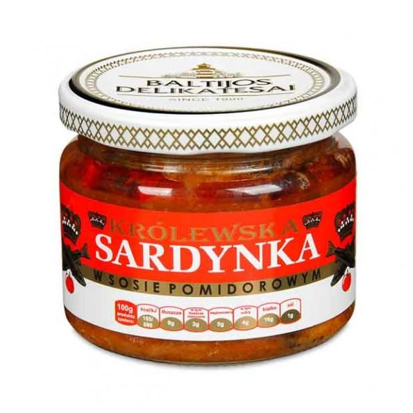 Królewska sardynka w sosie pomidorowym